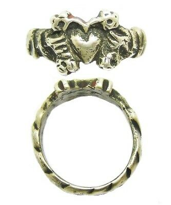 "15th century Medieval Silver Betrothal Ring Flowering Heart of ""Blossoming Love"""