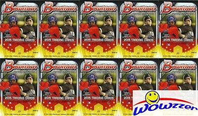(25)2015 Bowman Baseball EXCLUSIVE Factory Sealed Hanger Box-125 YELLOW PARALLEL