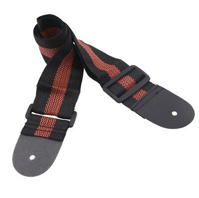 Adjustable Nylon Guitar Strap For Electric/Acoustic/Bass Guitar 130cm Red/Black