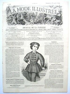 LA MODE ILLUSTREE, July 17,1864 - Fashion,Sewing,Family (In French)