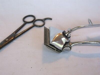 Vintage Wards Home Hair Cutting Set (hand held clippers/trimmers and scissors)