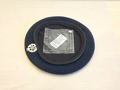 NEW Royal Air Force-Issue Beret & Badge. Size 61cm. RAF.
