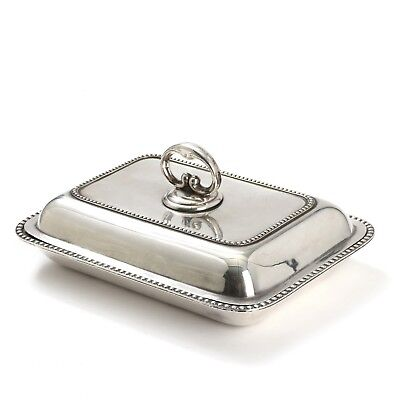 Silver serving dish with a lid. Denmark, 1953.