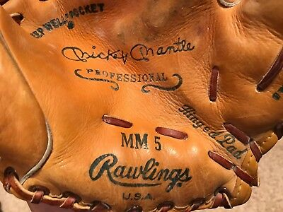 MICKEY MANTLE  1950's?  MM-5  RAWLINGS  RARE!  USA   3x MVP  HALL of FAMER  NICE
