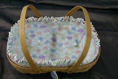 2005 Longaberger Easter Basket Easter Egg Hunt Liner/protector Egg Tie-On (500)