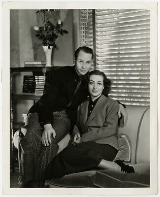 Joan Crawford & Franchot Tone at Home 1935 Wedded Bliss Vintage Photograph