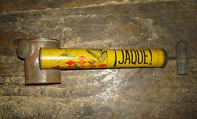 VTG RARE TIN 1950´s JAQUE  POISON SPRAYER Bug insect Pump  NICE mosquito LITHO