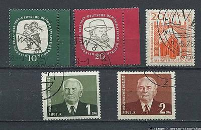 Germany - DDR : Small lot with CTO stamps from 1958