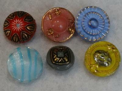 "AMAZING ANTIQUE & VINTAGE SMALL GLASS BUTTONS 3/8"" to 1/2"""