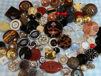 EXCEPTIONAL LOT ANTIQUE VINTAGE BUTTONS Glass Celluloid Rhinestone Pearl ++
