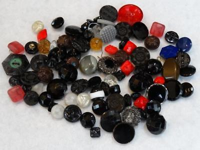 Wonderful Large Lot Antique Vintage Glass Buttons