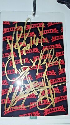 Hellyeah 2016 VIP Laminate Tour Pass Signed By Vinnie Paul