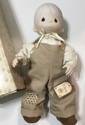 Precious Moments Porcelain Doll Mikey #6214/B & Box Open Edition 1981 ENESCO 17""