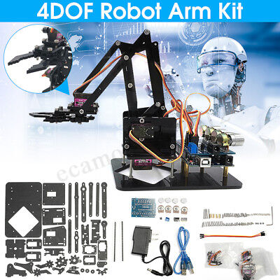 4DOF Robot Arm Kit Mechanical Robot Arm Claw With Servos For Arduino DIY Gift