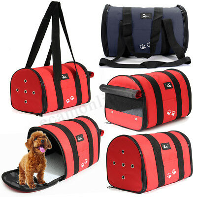 Pet Carrier Portable Folding Travel Dog Cat Puppy Crate Cage Foldable Bag New CA