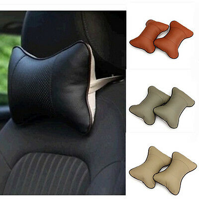 Pair Breathe Car Auto Seat Headrest Pillow Head Neck Rest Cushion Pad Support CA