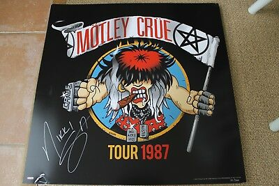 Motley Crue Final Tour SATD Lithograph Ticket Autograph Signed by Nikki Sixx