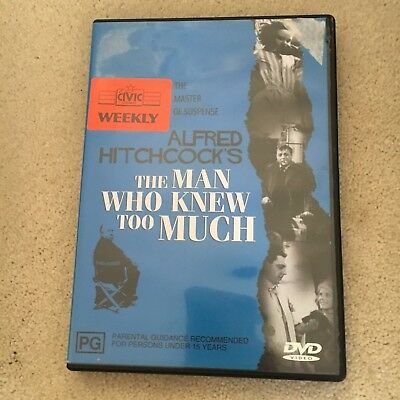Alfred Hitchcock. The Man Who Knee Too Much Dvd. Ex-Rental