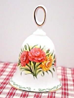 """Rosina - 4 1/2"""" BELL Queens Bone China Special Flowers CARNATION , MINT!"""