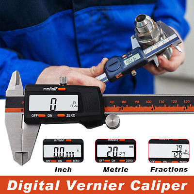 "150MM 6"" LCD Digital Electronic Vernier Caliper Gauge Micrometer Ruler Tool"