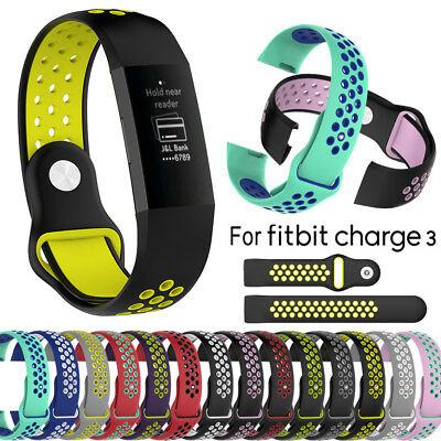 Replacement Silicone Wrist Strap Band Sport Edition For Fitbit Charge3 Bracelet~