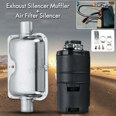 25MM Air Filter Accessory + 24MM Exhaust Silencer Muffler For Air Diesel Heater