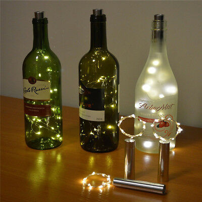 15/20LED Copper Wire Wine Bottle Cork Battery Operate Micro Fairy String Light B