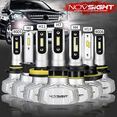 NOVSIGHT H1/H3/H4/H7/H11/H13/9005/9006/9007 LED Headlight Bulb 10000LM 50W