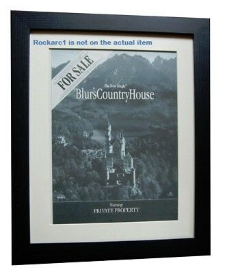 BLUR Country House 1998*ORIGINAL*POSTER*AD*FRAMED*FAST WORLD SHIP