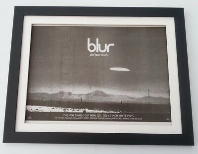 BLUR On Your Own 1997*ORIGINAL*POSTER*AD*FRAMED*FAST WORLD SHIP