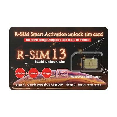 R-SIM 13 Smart Activation Unlock SIM Card For iPhone  XR / XS MAX / XS / X 8 7 6