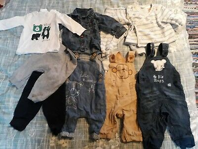 baby boy or girl bundle 0-3 months trousers and tops