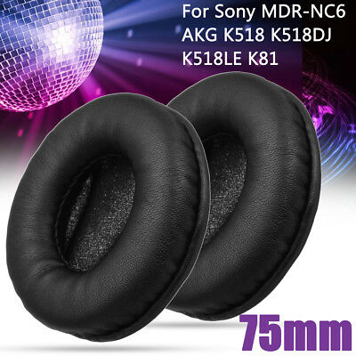 1Pair Replacement Ear Pads Cushion For Sony MDR-NC6 AKG K518 K518DJ K518LE K81