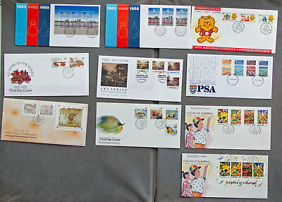 Singapore: Ten assorted First Day Covers (#6)
