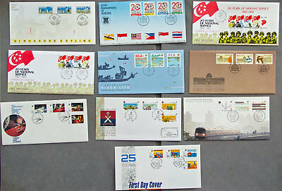 Singapore: Ten assorted First Day Covers (#7)