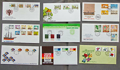 Singapore: Nine assorted First Day Covers (#8)