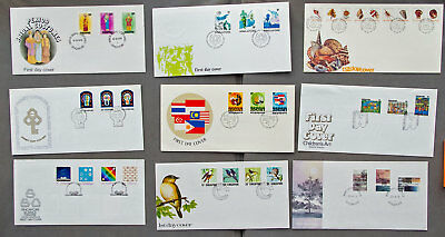 Singapore: Nine assorted First Day Covers (#10)