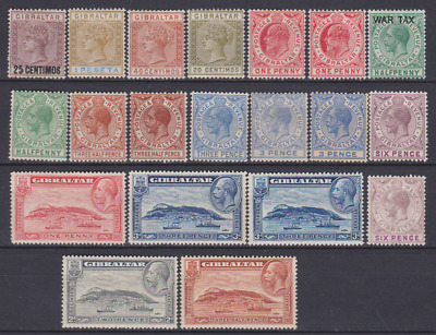 Gibraltar 1889/1931 collection Mint Mounted