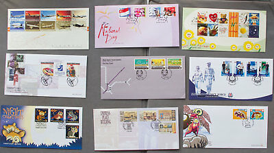 Singapore: Nine assorted First Day Covers (#12)