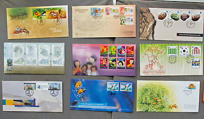 Singapore: Nine assorted First Day Covers (#14)