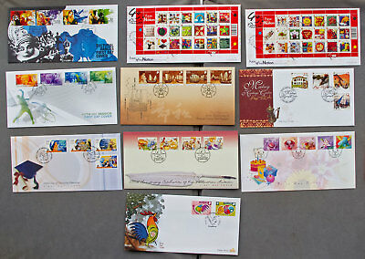 Singapore: Ten assorted First Day Covers (#15)