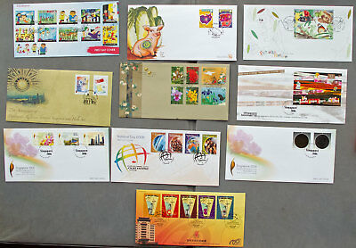 Singapore: Ten assorted First Day Covers (#17)