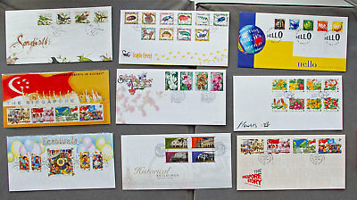 Singapore: Nine assorted First Day Covers (#18)