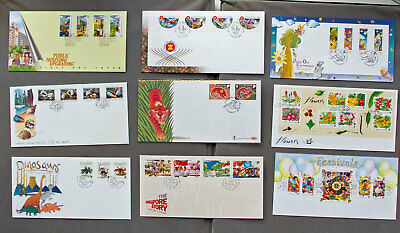 Singapore: Nine assorted First Day Covers (#19)