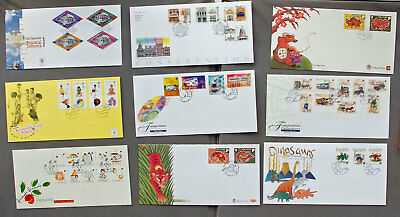 Singapore: Nine assorted First Day Covers (#20)
