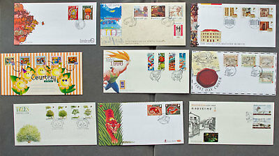 Singapore: Nine assorted First Day Covers (#21)
