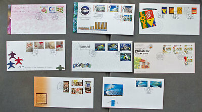 Singapore: Eight assorted First Day Covers (#22)