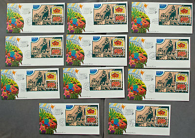 Singapore: Eleven Pacific 97 with different postmarks First Day Covers (#23)