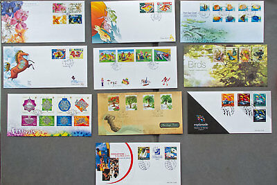 Singapore: Ten assorted First Day Covers (#24)