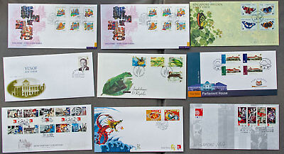 Singapore: Nine assorted First Day Covers (#27)